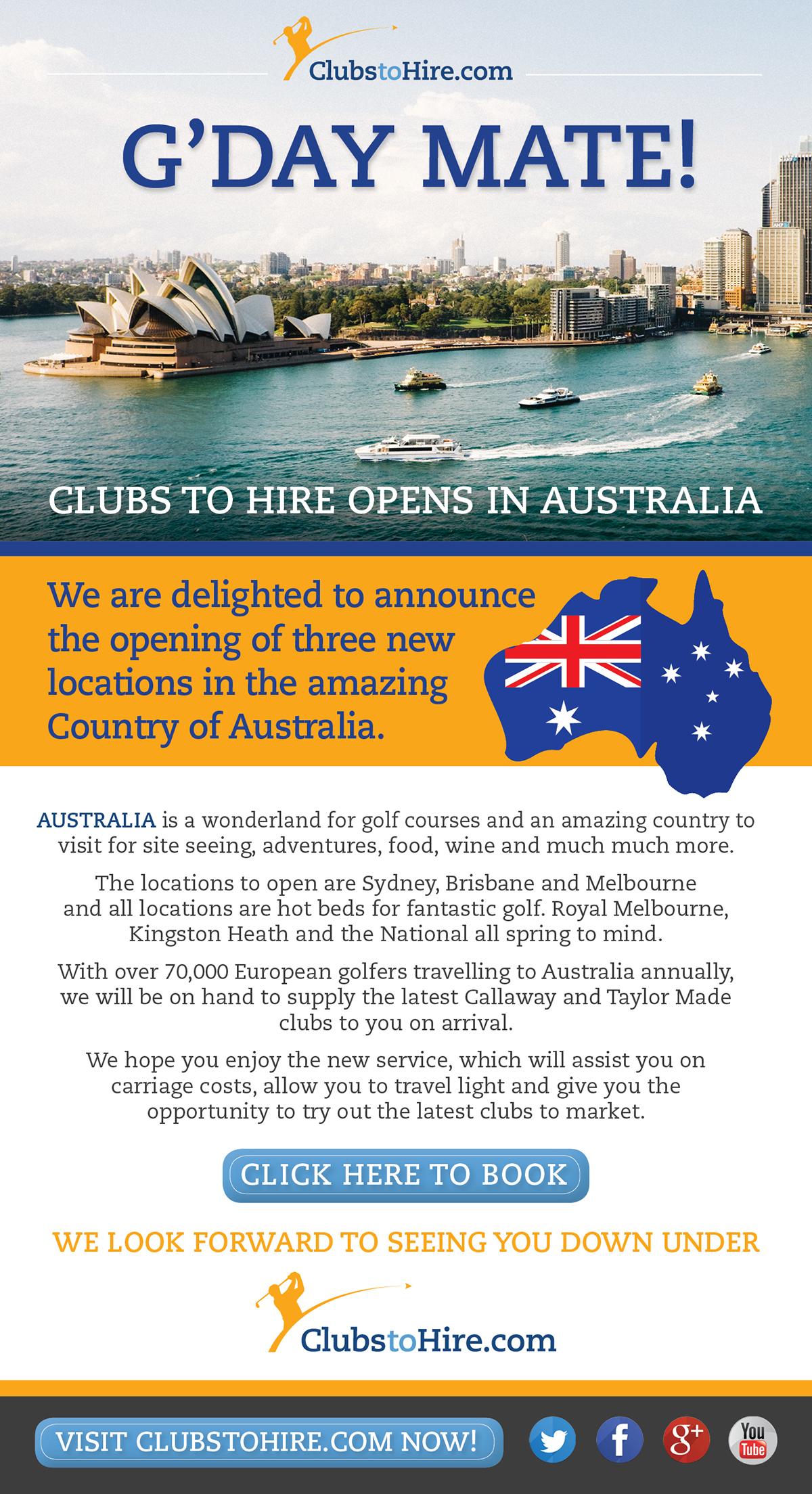 ClubstoHire open in Australia!